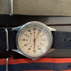 JCrew timex field watch with 6 bands